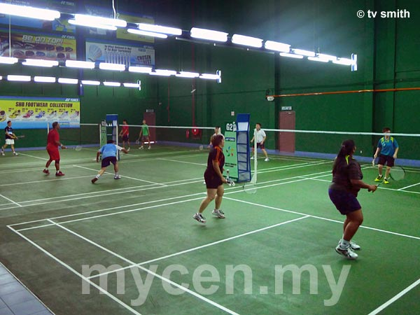 One of several badminton halls in the Sports Arena Sentosa complex