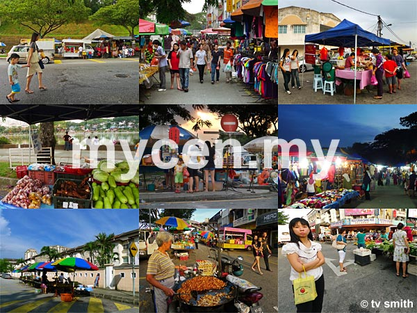 MyCen Map of Wednesday Pasar Malam (Night Markets) in and around Kuala Lumpur and Petaling Jaya