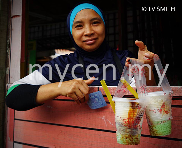 Cendol Bakar Drive Thru Counter